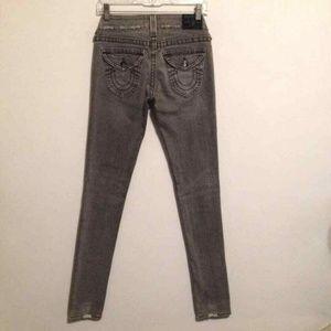 True Religion Julie Gray Skinny Denim Jeans